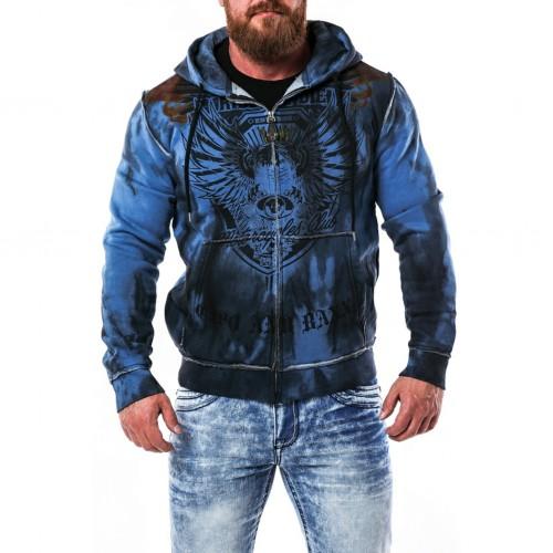 Pánska mikina CIPO & BAXX CL404 BLUE