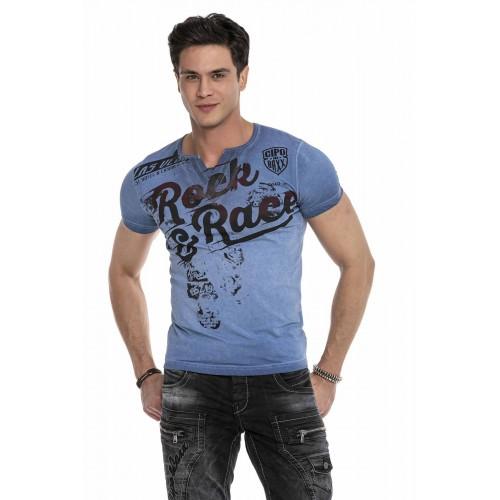 Pánske tričko CIPO & BAXX CT646 BLUE