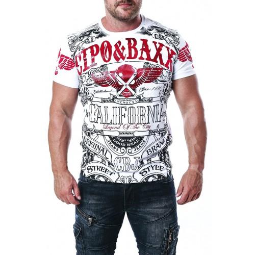 Pánske tričko CIPO & BAXX CT656 WHITE