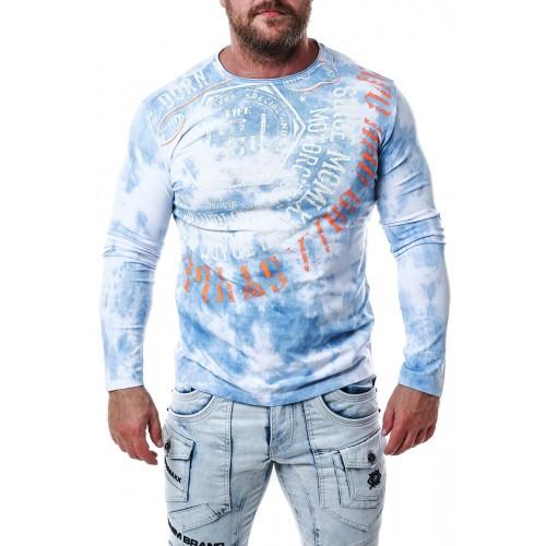 Pánske tričko CIPO & BAXX CL472 BLUE