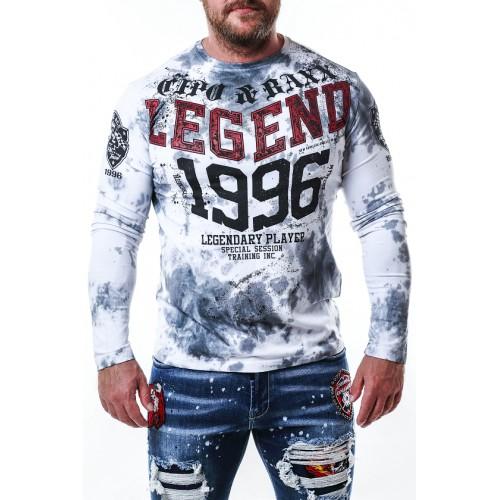 Pánske tričko CIPO & BAXX CL486 WHITE