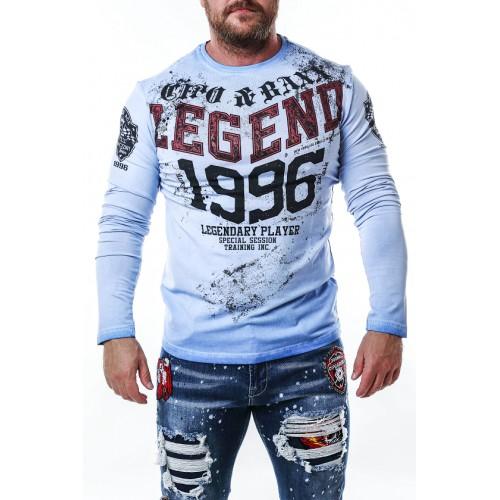 Pánske tričko CIPO & BAXX CL486 BLUE