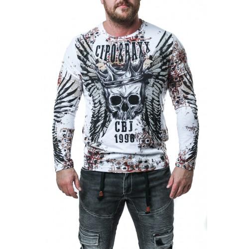 Pánske tričko CIPO & BAXX CL494 WHITE