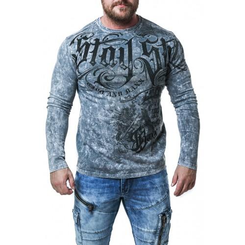 Pánske tričko CIPO & BAXX CL495 ANTRACITE