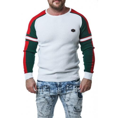 Pánsky sveter CIPO & BAXX CP249 WHITE